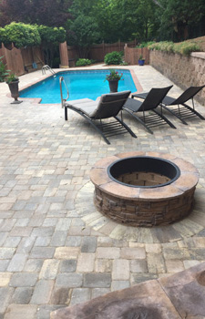 Pool Deck and Fire Pit